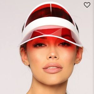 Red clear visor